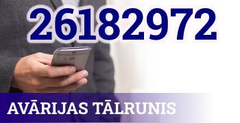 Avārijas tālrunis - 26 182 972